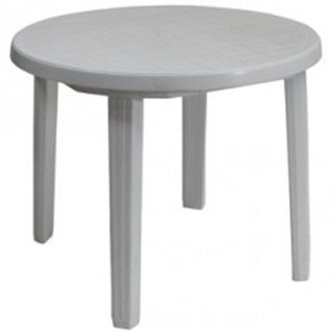 Round Plastic Garden Table 3 ft image