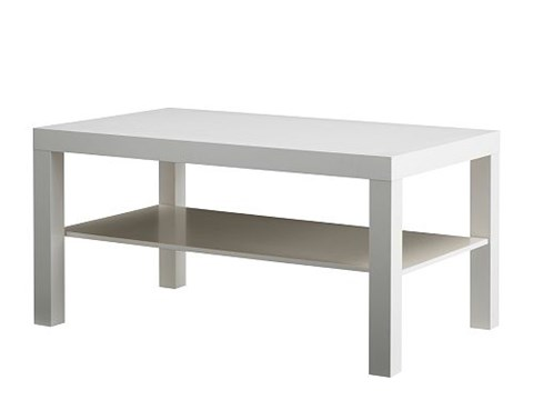 Coffee Table White 90 cm Length x 55 cm Wide x 45cm High image