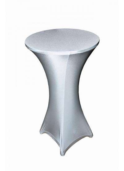 White Poseur Table Stretch Covers image