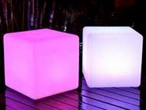 Wireless LED Light Up Cube - Colour Changing image