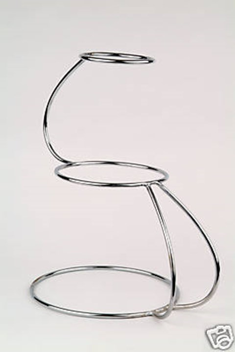 3 Tier S Shaped Cake Stand image
