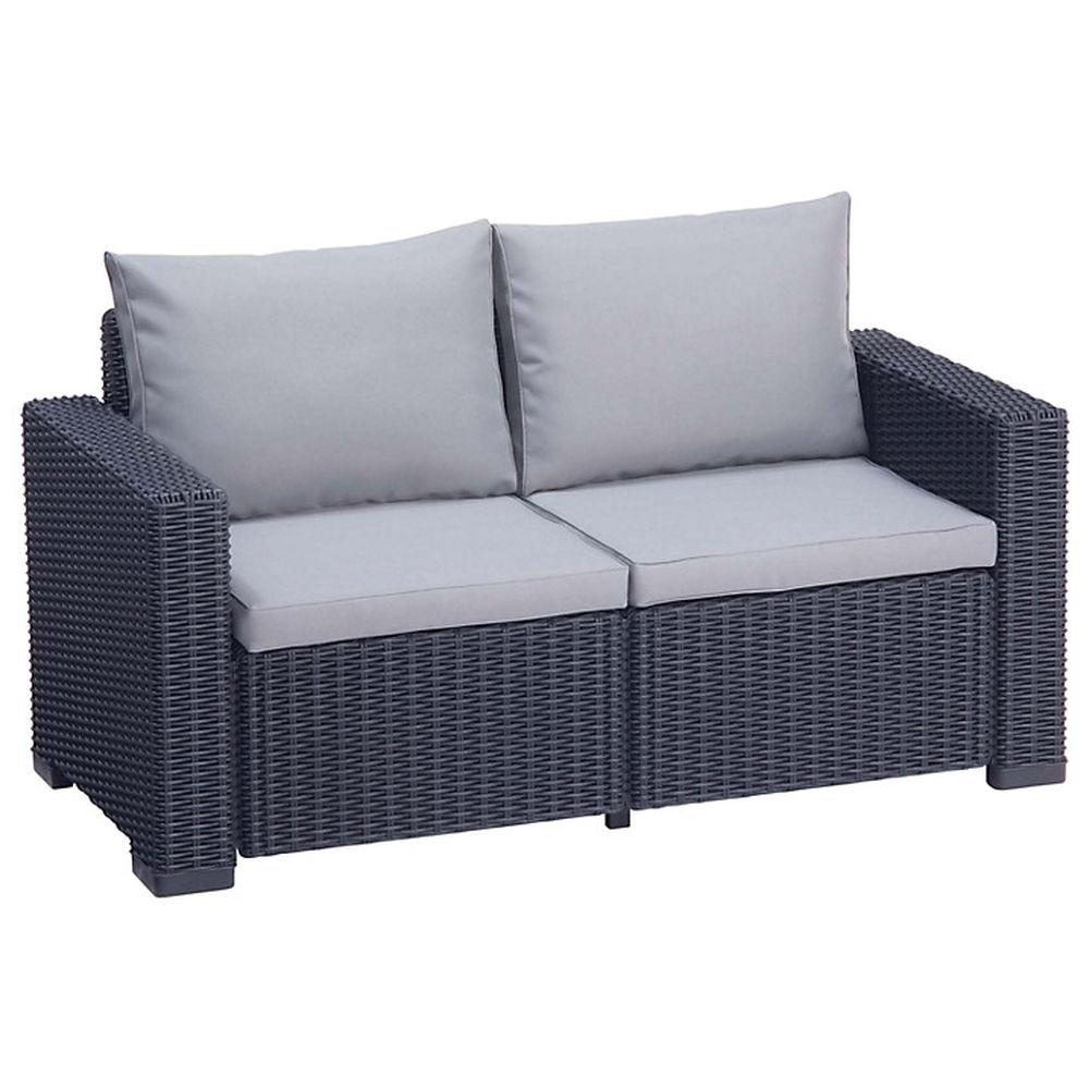 Luxury Rattan Sofa Garden Furniture Patio Conservatory Wicker Outdoor ( 1 X 2  Seater Sofa )