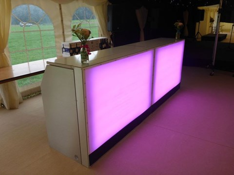 LED Colour Changing Bar / DJ Booth image