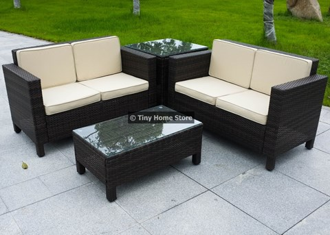 Luxury Rattan Coffee Table Furniture Patio Conservatory Wicker Outdoor ( 1 x Coffee Table ) image